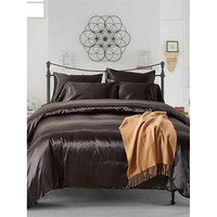 Simple Solid Colour Bed Sheet Set
