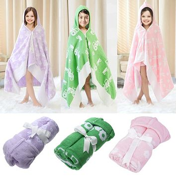 Bath Towel Children's Bath Towel Cotton Cloak Hooded Hat Bathrobe Beach Towel Baby Kid Receiving Blanket Swaddle Wrap Towels