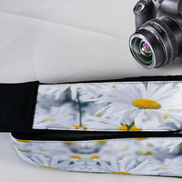 Flowers  Camera Strap. Daisies Camera Strap. Floral  Camera Strap. Accessories
