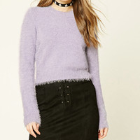 Fuzzy Knit Crop Top
