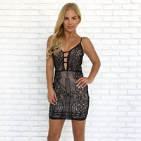 Dance All Night Crochet Bodycon Dress