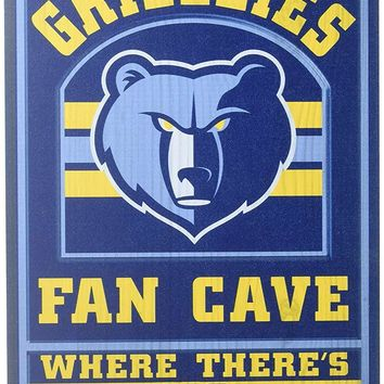Memphis Grizzlies No Offseason 11x17 Wood Fan Sign