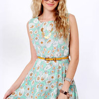 Field of Poppies Floral Print Dress