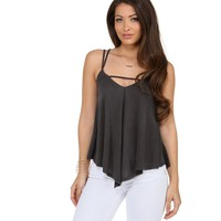 Charcoal Like What You See Top