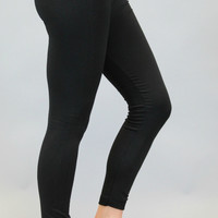 Fleece Lined Legging – Black
