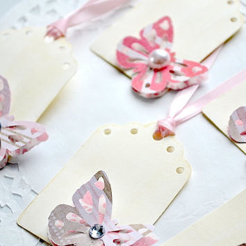 Scrapbook Tags - Journaling Spots - Party Favor Tags - Blank Tags - Butterfly Tags - Wedding Tags - Gift Tags - Baby Shower Tags