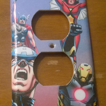 Avengers comic book superhero outlet cover