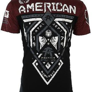 Licensed Official AMERICAN FIGHTER Men T-Shirt FAIRBANKS Athletic BLACK RUSTED RED Gym UFC $40 NWT