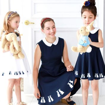 Cotton Dancing Bunny dress | Mommy & Me