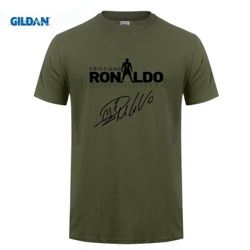 GILDAN Cristiano ronaldo signed CR7  tee cool t shirts Mens o-neck fashion T-shirts fans gift