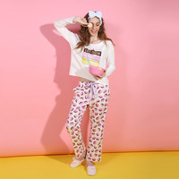 Long Sleeve Winter Lovely Print Cotton Korean Sleepwear [9576700111]