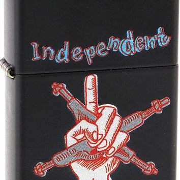 Independent My Name Is Gonzales Zippo Lighter Matte Black
