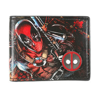 Marvel Deadpool Metal Logo Badge Bi-Fold Wallet