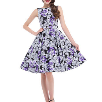Women Summer Dress 2017 Retro Vintage plus size clothing Swing floral Short Tunic Party Casual Rockabilly 60s 50s Dresses