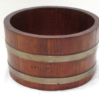 Wood, Barrel, Mancave, Bar, Snack, Bowl, Decor, Rustic, Flower, Herb, Plant, Planter, Arrangement, Fruit, Kitchen, Party, Country, Box, Pot