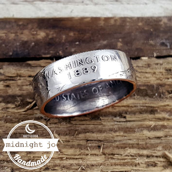 Washington State Quarter Coin Ring