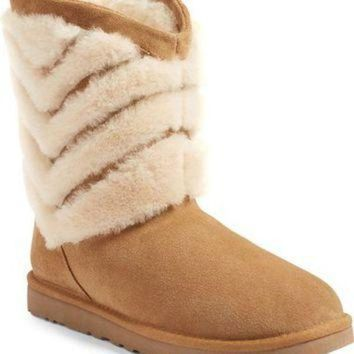 CREY1O UGG? 'Tania' Genuine Shearling Boot (Women) | Nordstrom