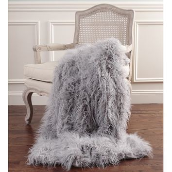 Best Home Fashion, Inc. Mongolian Lamb Faux Fur Throw Blanket & Reviews | Wayfair