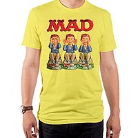 Mad Magazine See Hear Speak Short Sleeve Men's Crew Tee