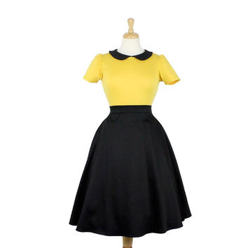 Black and Yellow Vintage Inspired Top