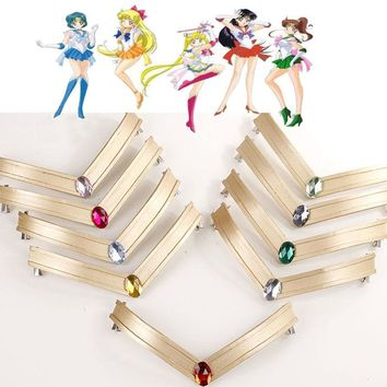 Anime Cosplay Sailor Moon Tsuking Usagi Sailor Mars Chibi Jupiter EVA Headwear Headband Tiara Hair Clips