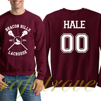 Hale Sweatshirt Beacon Hills Teen Wolf 00 Number Unisex Sweatshirts - RT104