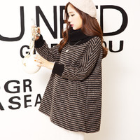 Turtleneck Long Sleeve Maternity Sweater Thickening Warm Pullover Clothes for Pregnant Women Autumn Pregnancy Clothing