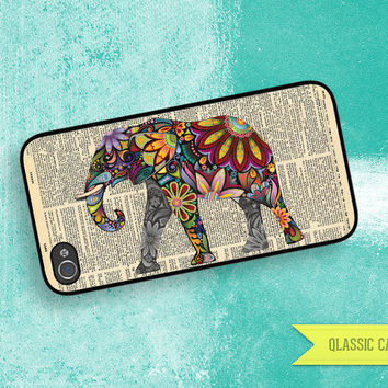 iPhone 5 Case Elephant With Flower & Vintage by QlassicCases