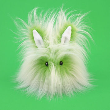 Lime Green Fizz Bunny Stuffed Animal Plush Toy