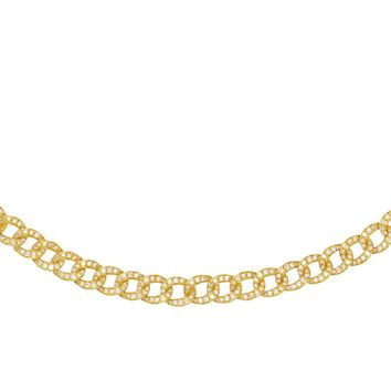 Diamond Cuban Chain Necklace 14KT