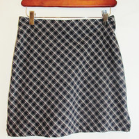 Vintage 1990's Plaid Mini Skirt