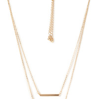 FOREVER 21 Linear Rhinestone Necklace Set