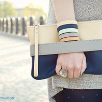 "Clutch bag ""CarryMe"", vegan leather purse"