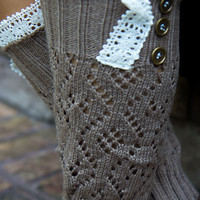 3 Button Long Boot Cuff - Mocha
