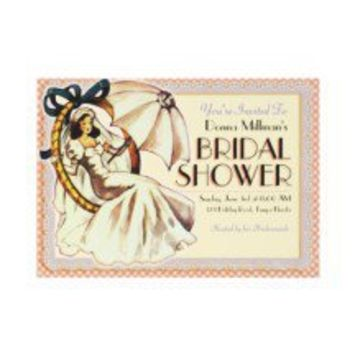 Very Vintage Bridal Shower Invitation Template