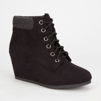 City Classified Inso Womens Wedges Black  In Sizes