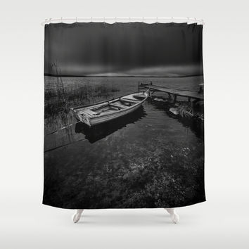 On the wrong side of the lake 7 Shower Curtain by HappyMelvin