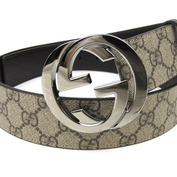 Gucci GG Supreme belt with G buckle Size 90.36