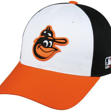 MLB Cooperstown YOUTH Baltimore ORIOLES Wht/Orng/Blk Hat Cap Adjustable Velcro TWILL Throwback