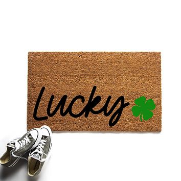 Lucky St. Patrick's Day Doormat