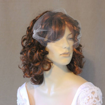 Bandeau Veil Birdcage Style Bridal Blusher Tulle by AnnMarieBridal