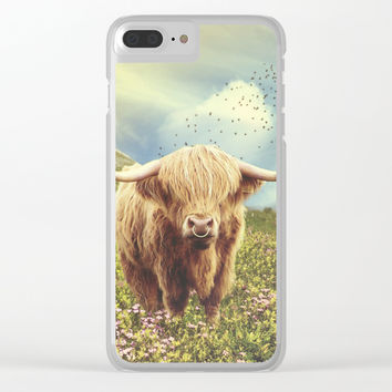 Ox Bull Clear iPhone Case by Knm Designs