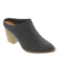 Prenton-08 Perforated Mule Bootie