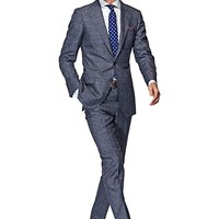 Suit Grey Check Lazio P3826i | Suitsupply Online Store