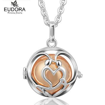 Copper Angel Caller Bijoux Eudora Harmony Ball Chime Sound Mexican Bola Floating Locket Baby Caller Mother Child Necklace Gift