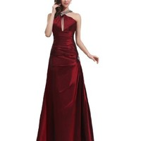 Remedios Boutique Taffeta Floor Length A Line Special Occasion Evening Gown