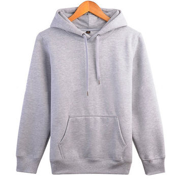 Women's & Men's Unisex Casual Gray Pullover Hoodie