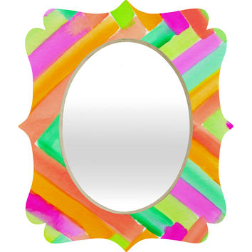 Rebecca Allen Summer Stays Quatrefoil Mirror