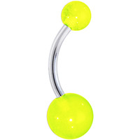 Neon Green GLOW in the DARK Belly Button Ring | Body Candy Body Jewelry