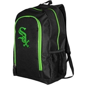 Brand New Fanatics 1082085 Chicago White Sox Neon Tracker Backpack - Black